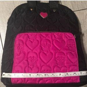 Betsey Johnson skull embossed backpack